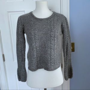 Superdry sartorial gray bell sleeve sweater